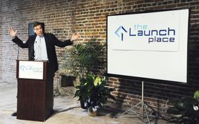 Senator helps The Launch Place celebrate move