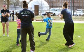 Students spend day serving the community