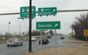 Signs installed in Greensboro, N.C., point to River City
