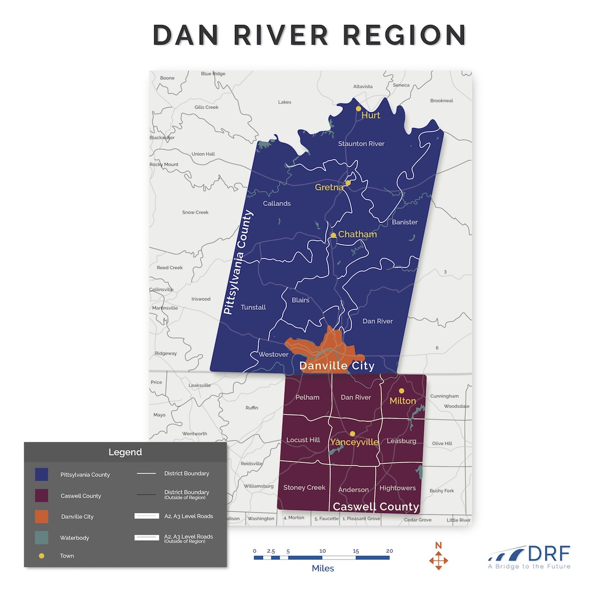 Dan River Region Map
